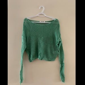 Forever 21 Green Crochet Top